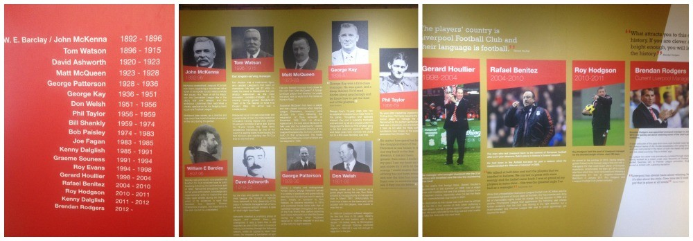 A tribute to the men that managed Liverpool FC over the years