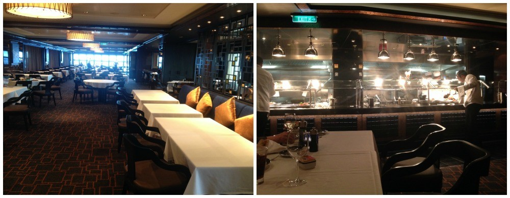 Cagney's restaurant with open grill kitchen