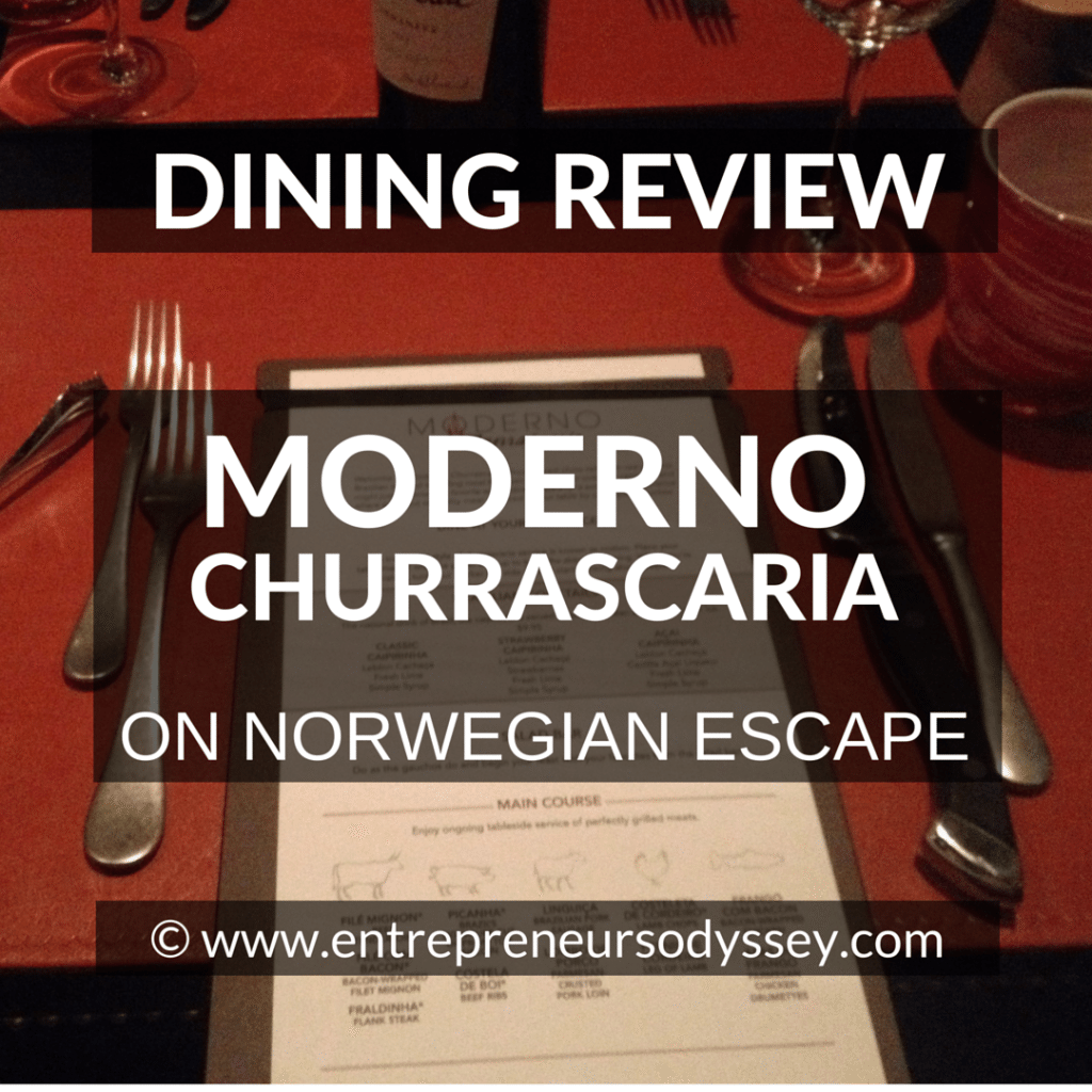 DINING REVIEW OF MODERNO ON NORWEGIAN ESCAPE