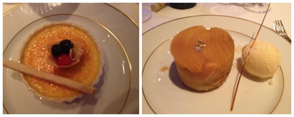 Desserts at Le Bistro