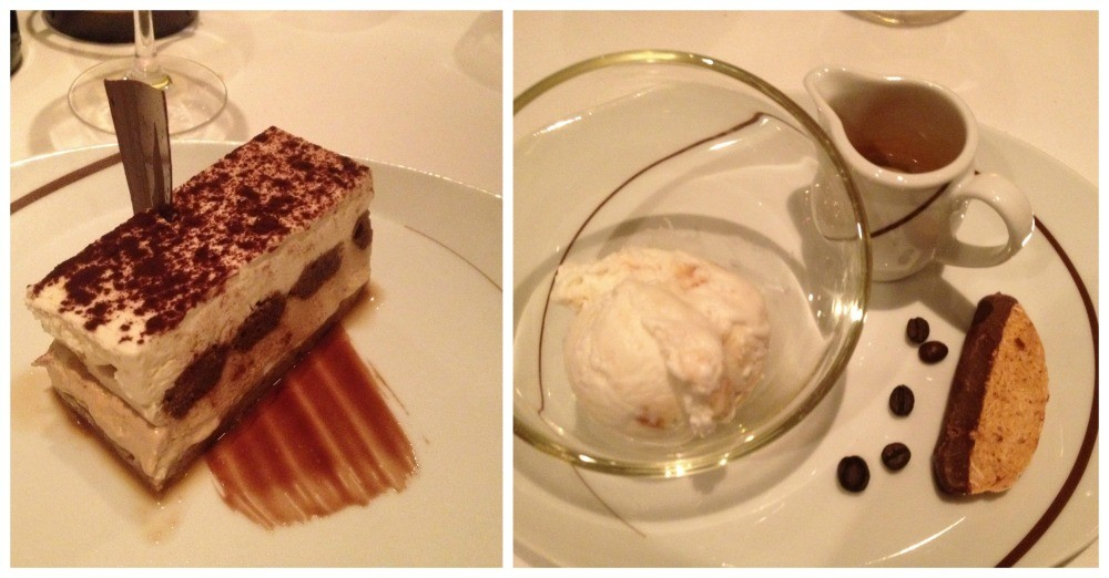 Desserts in the Italian restaurant on Escape