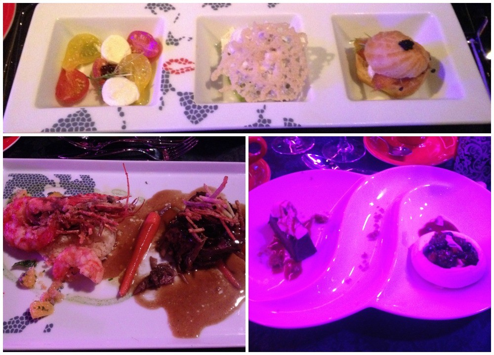 Dinner meals at The Brat Pack show on NCL Escape