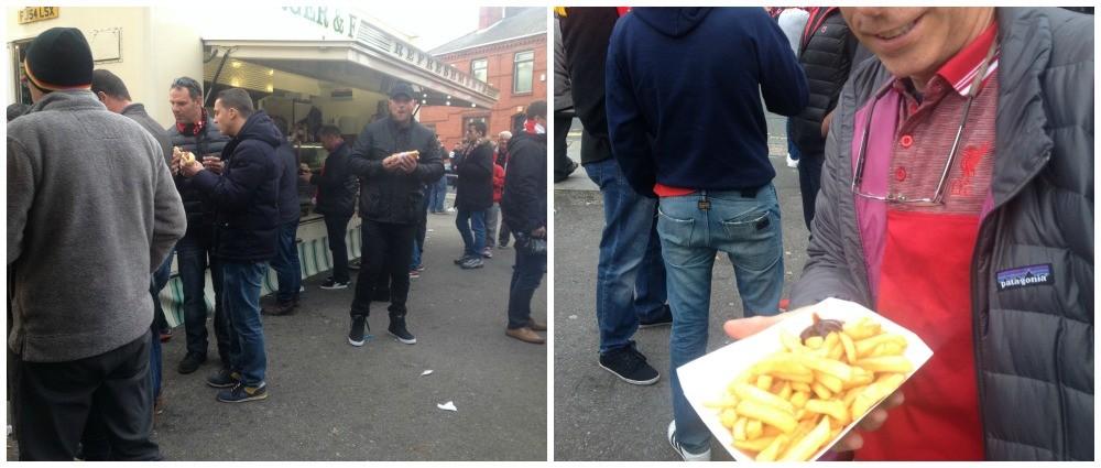 Food vans at Anfield