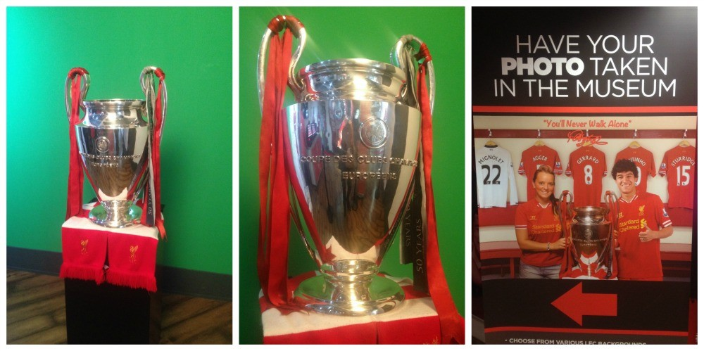 Get your photo taken with a replica European Cup
