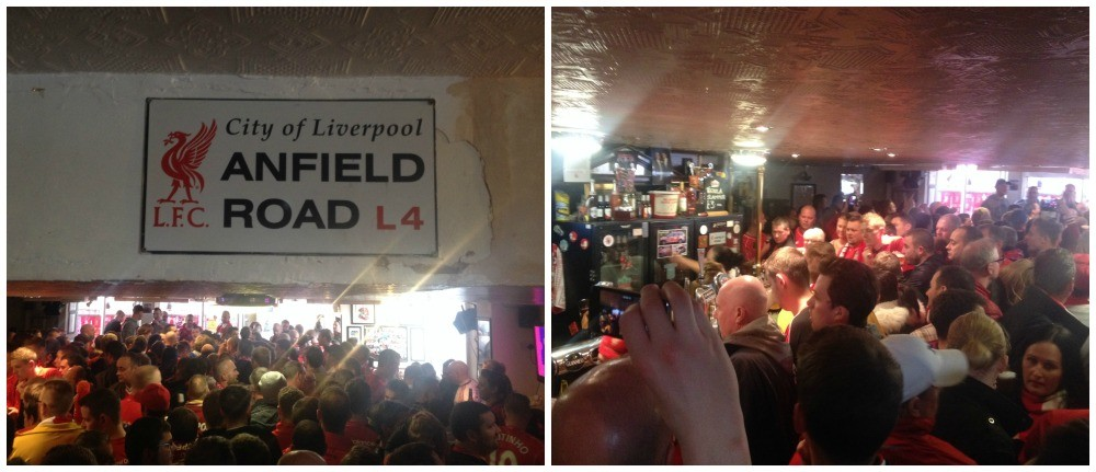 Inside the Park Pub opposite Anfield