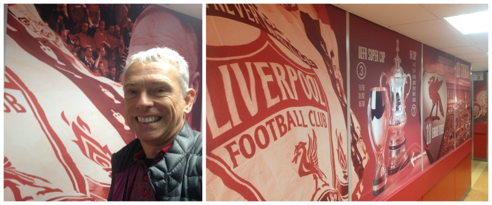Inside the players area at Anfield