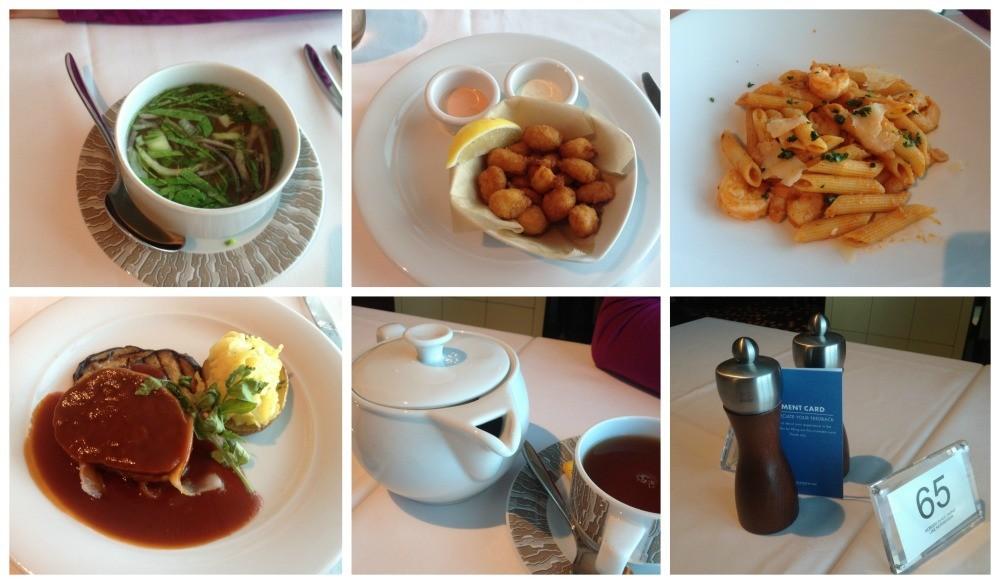 Lunch meals at Taste restaurant on Escape