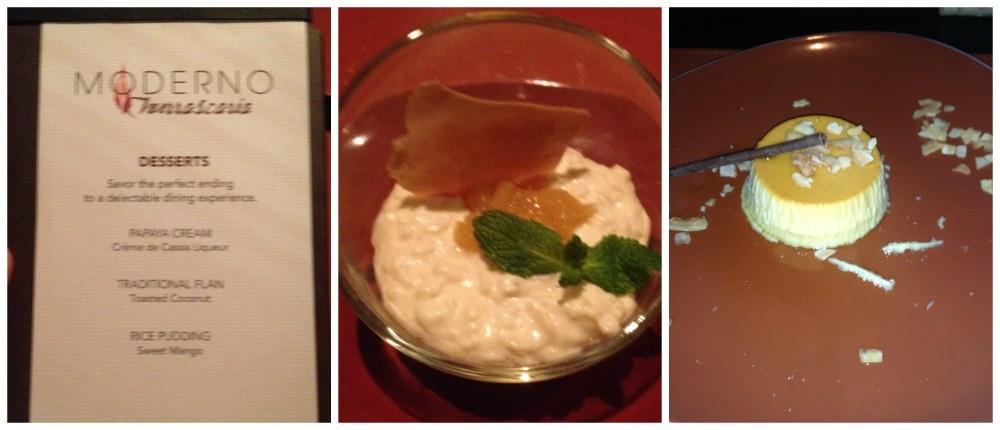 Moderno Churrascaria desserts