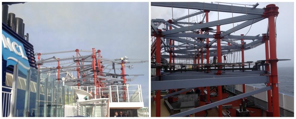 Ropes course on cruise ship Escape
