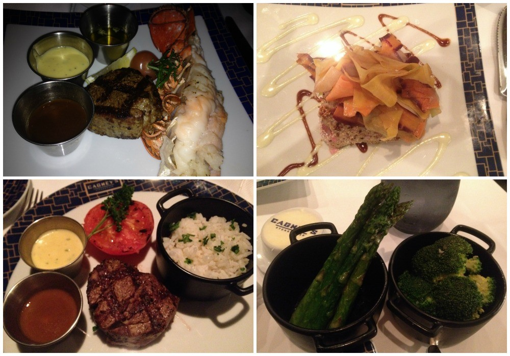Selection of main meals at Cagney's