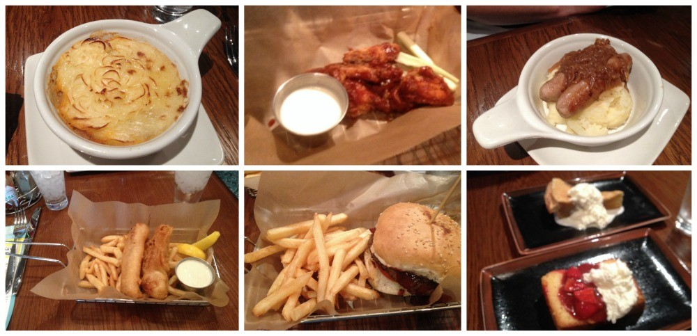 Selection of meals from O'Sheehan's Bar & Grill