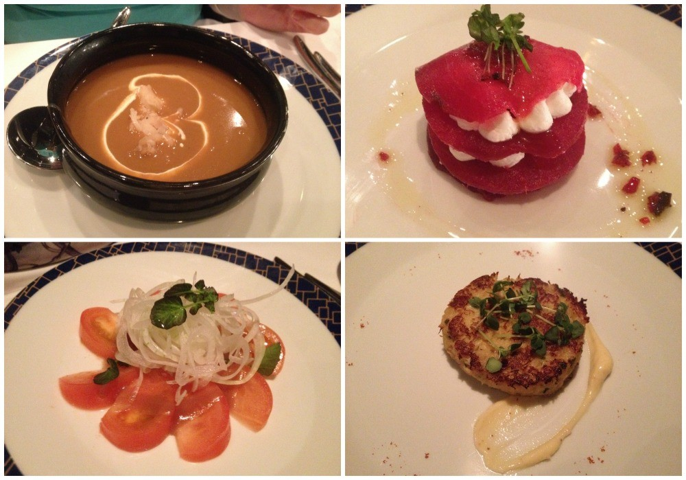 Selection of starters from the menu at Cagney's