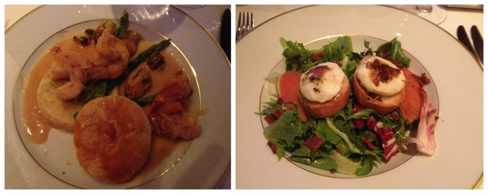 Starters at Le Bistro French restaurant