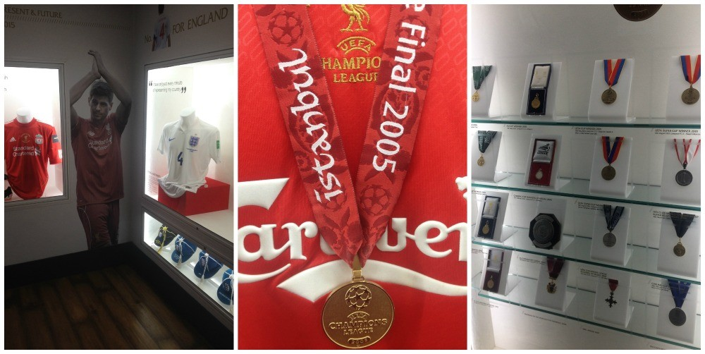 Steven Gerrards Champions League medal and others
