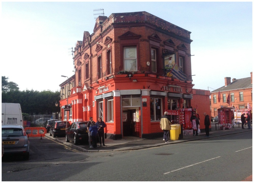 The Park Pub just outside the ground at Liverpool FC