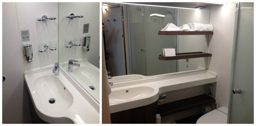 The bathroom on Norwegian Escape Cabin 11848