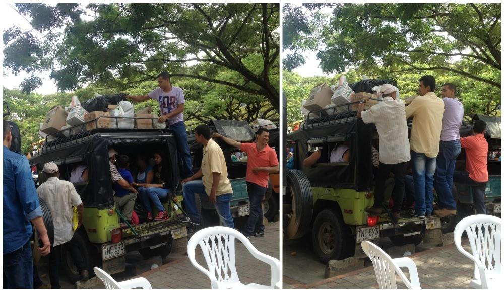 A fully loaded taxi in Ciudad Bolivar Antioquia