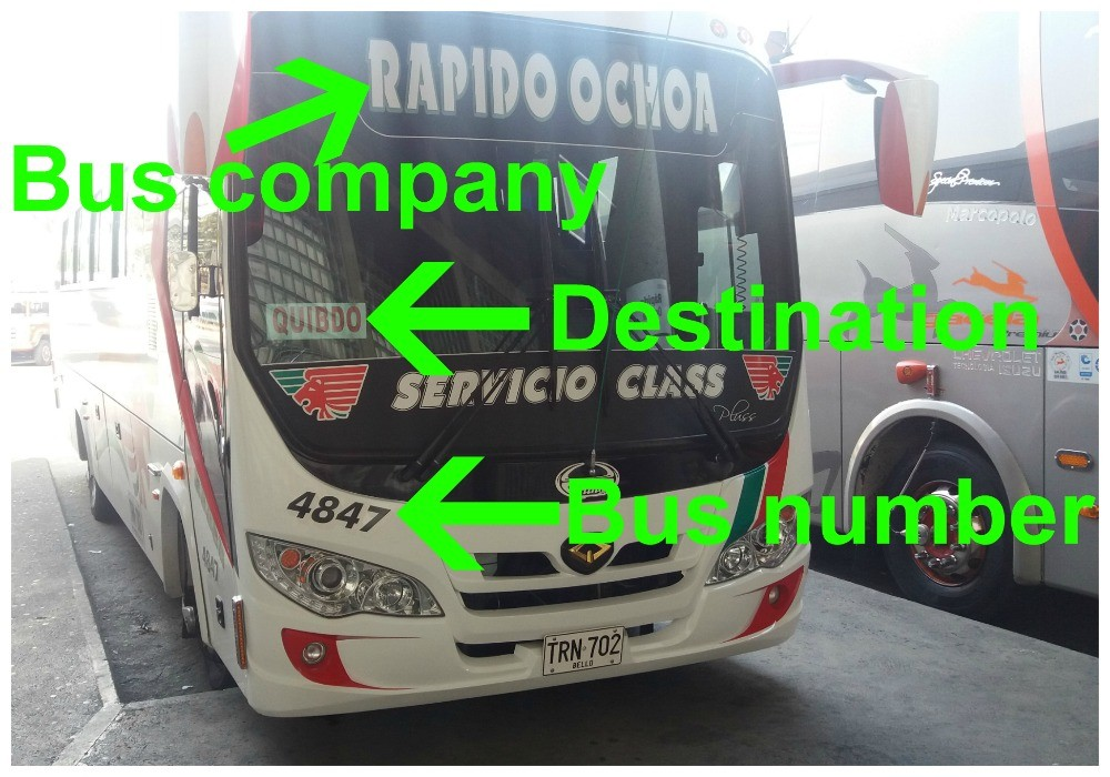 A typical bus from Medellin, Colombia
