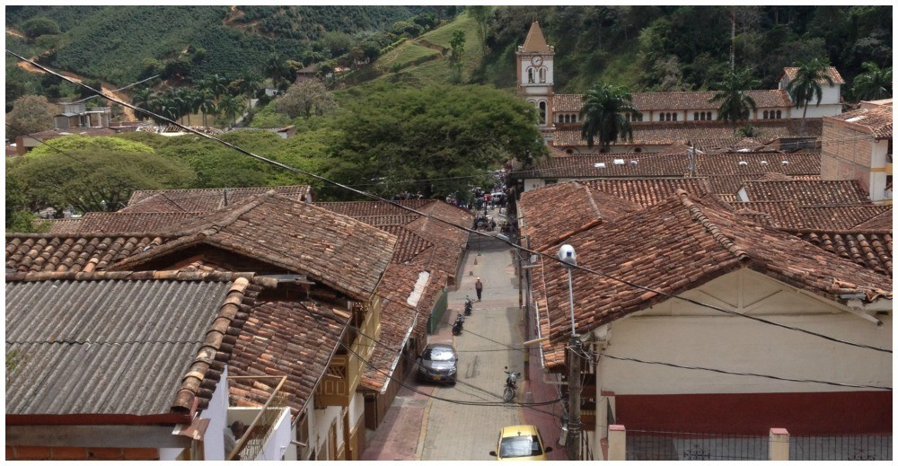 A view towards the church from Cerro Parque as you walk up