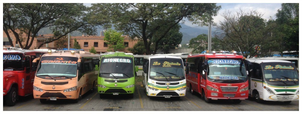 Buses at the Terminal del Sur
