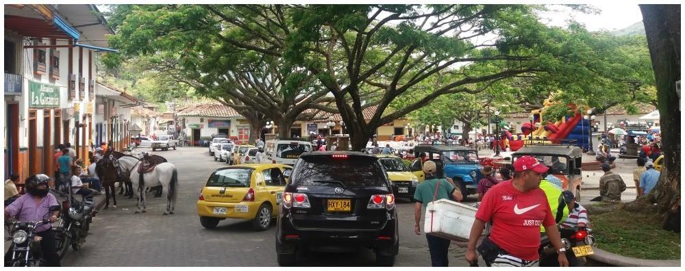 Cars, bikes, horses & pedestrians