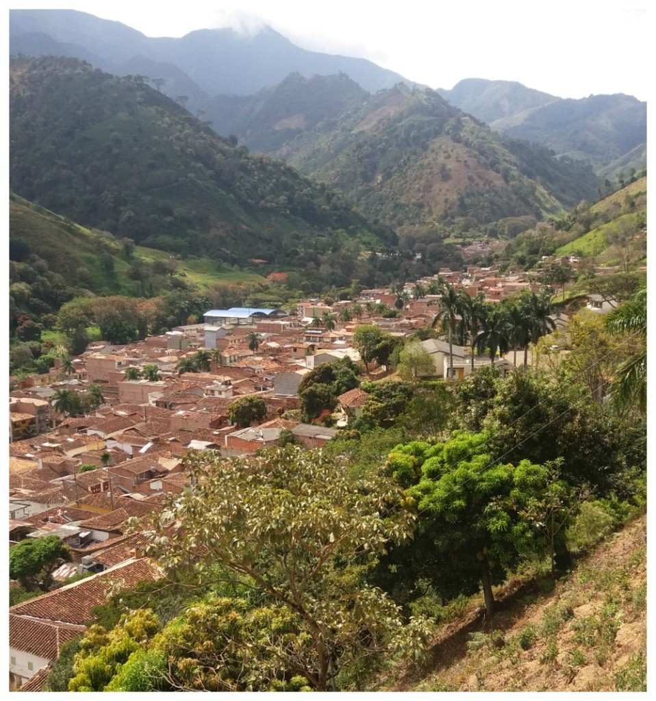 Ciudad Bolivar is situated in a valley in Antioquia
