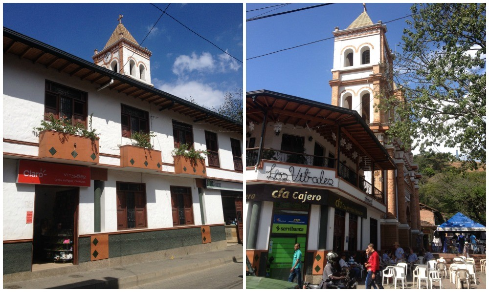 Hotel Los Vitales near to the church
