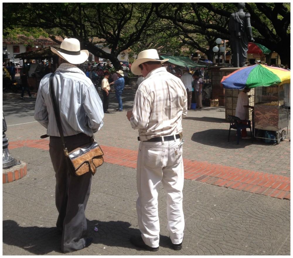 Ranchero in the town square, Antioquia