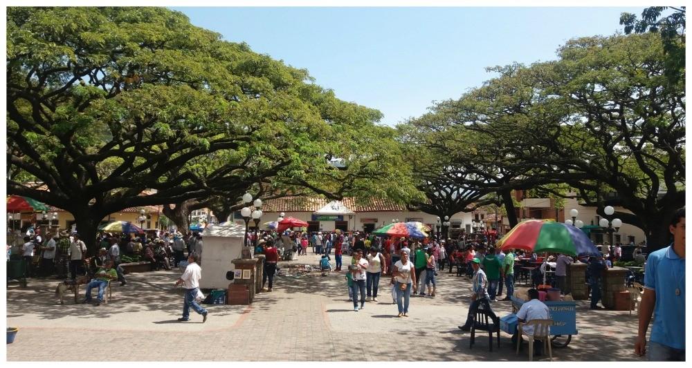The main square in Ciudad Bolivar