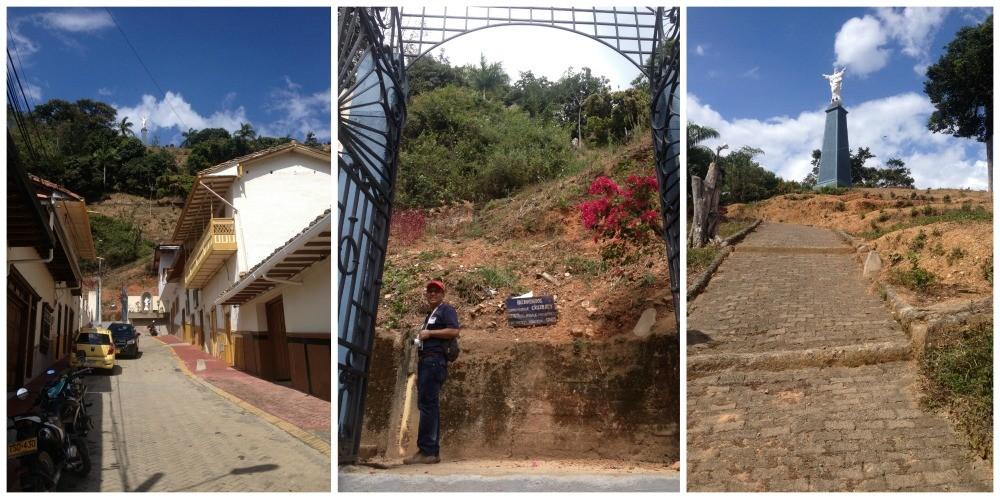 The way up to Cristo Rey in Cerro Parque