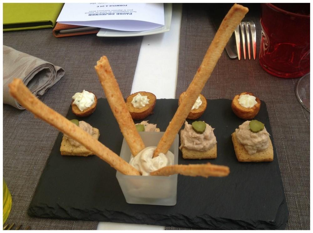 Appetizer at Tour des Vents