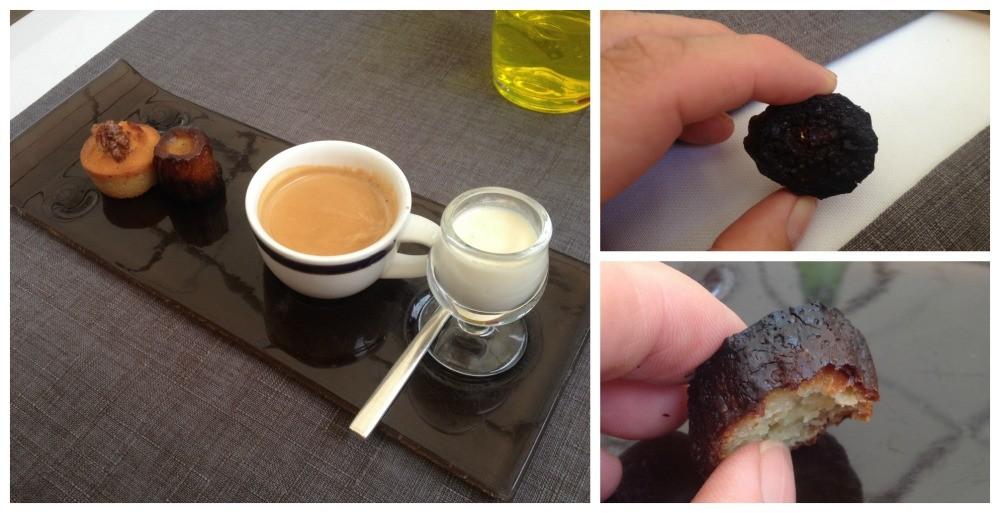 Espresso coffee service at La Tour des Vents