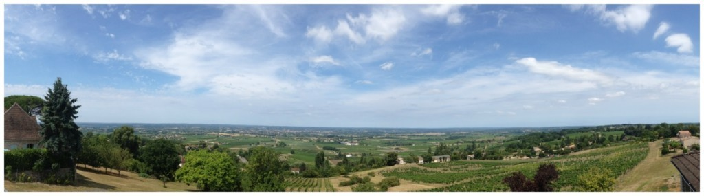The view from the restaurant La Tour des Vents in Monbazillac