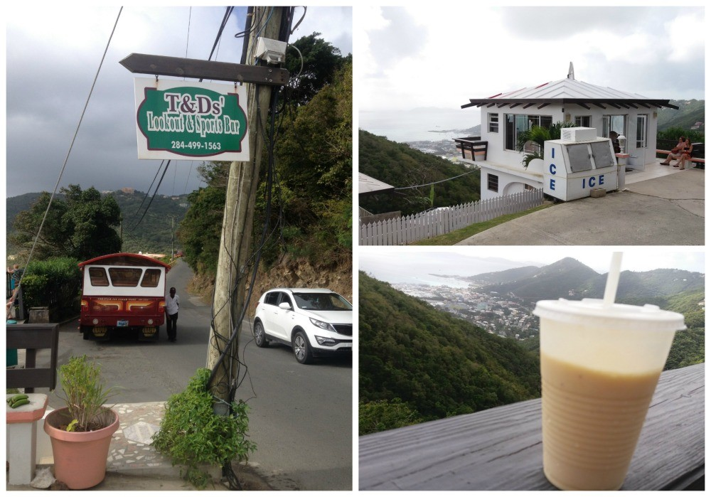 A stop at T&Ds lookout & sports Bar on Tortola