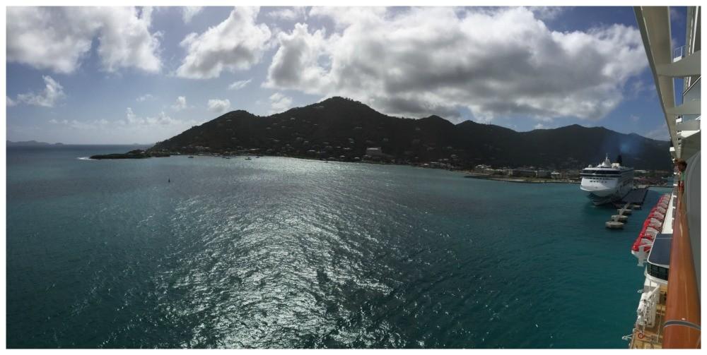 Cruising away from BVI Tortola in February 2016