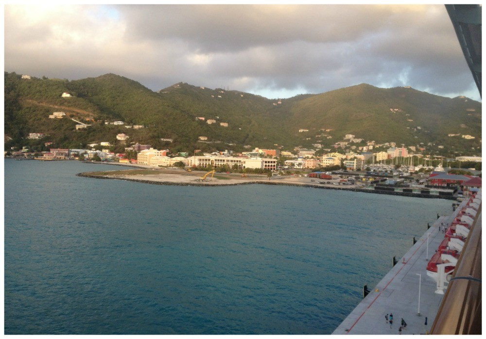 First glimpse of Tortola