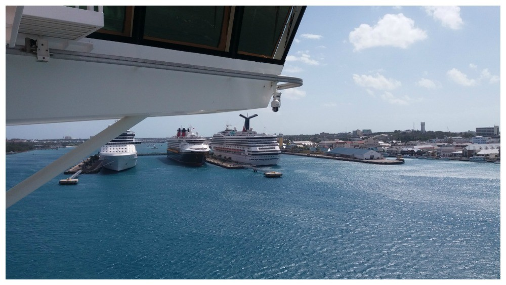 Five cruise ships visiting Nassau today