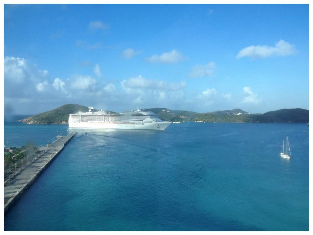 MSC Divina arriving in St Thomas