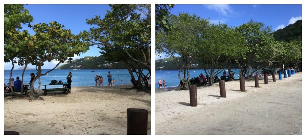 Magens Bay beach on St Thomas USVI