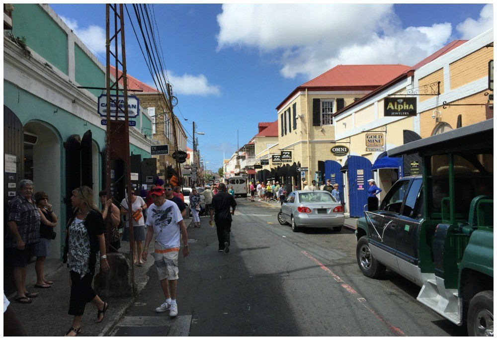 Shopping streets on St Thomas USVI