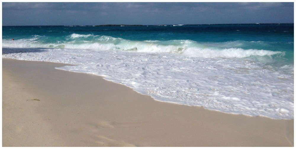 Strong surf at Cabbage Beach in Nassau