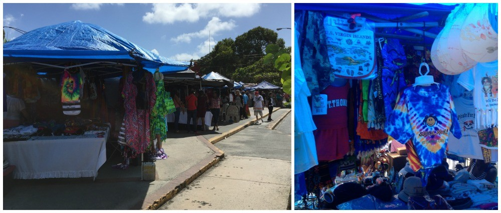 The markets in Charlotte Amalie