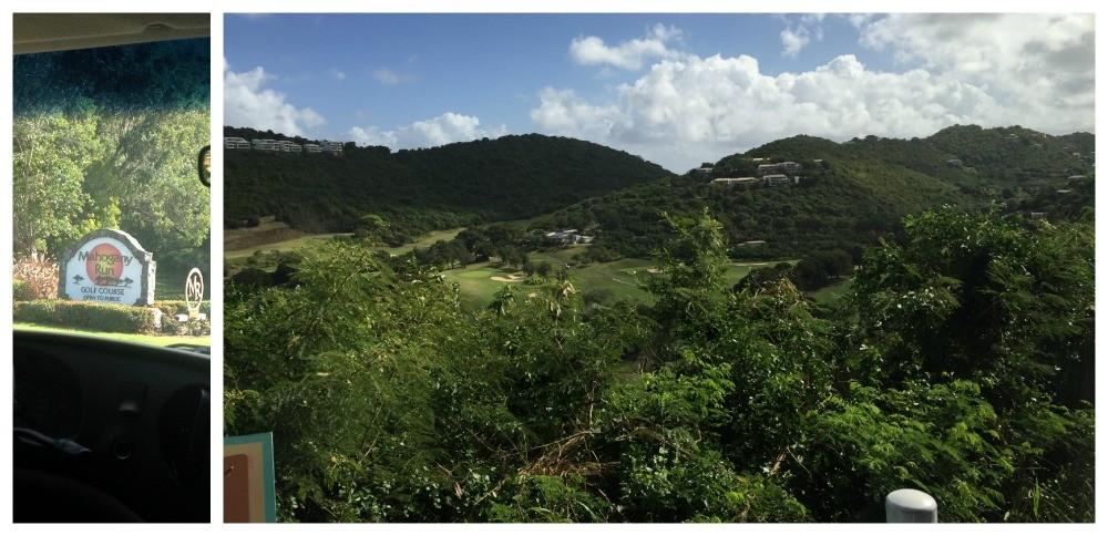 The view down to Mahogany Run Golf Course USVI