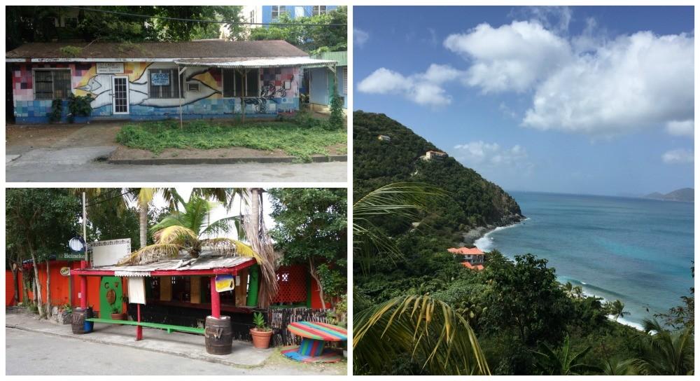 colourful coastline of Tortola