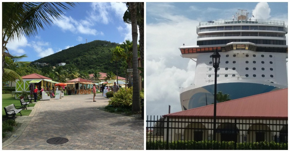 walk from Havensight port to Charlotte Amalie