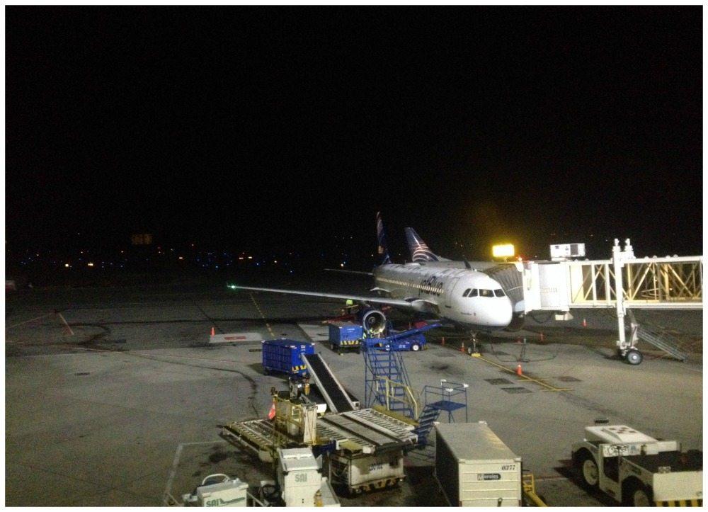 Jet Blue plane at Medellin airport