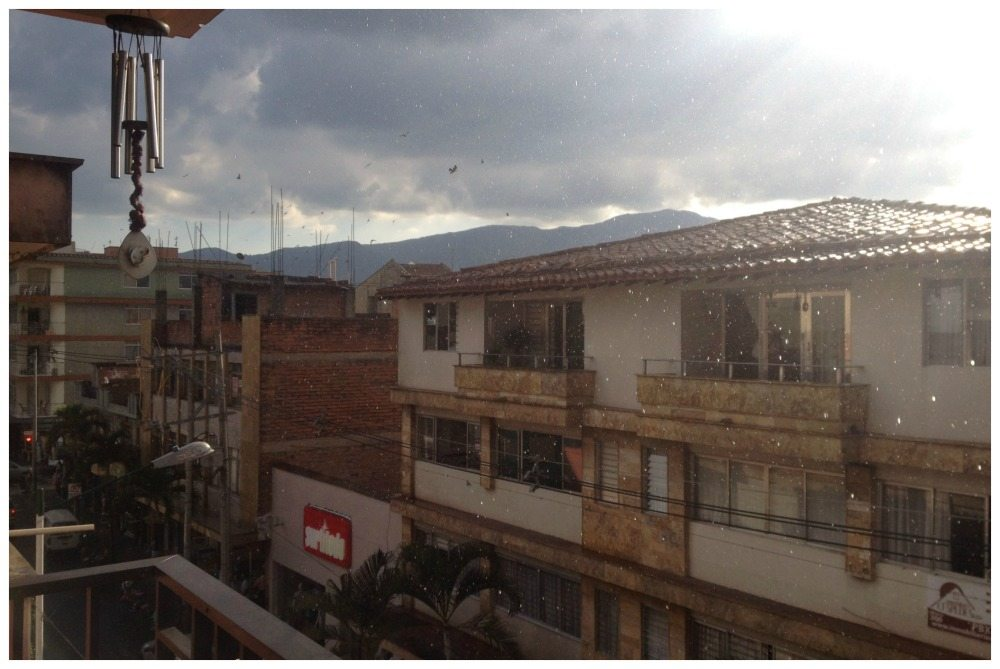 Just starting to rain in Envigado