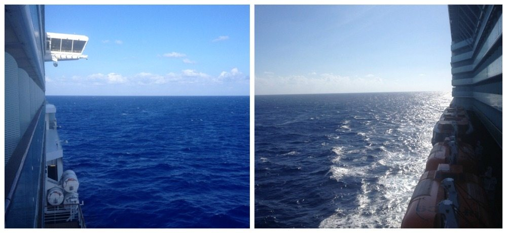 Afternoon view from the balcony somewhere in the Atlantic