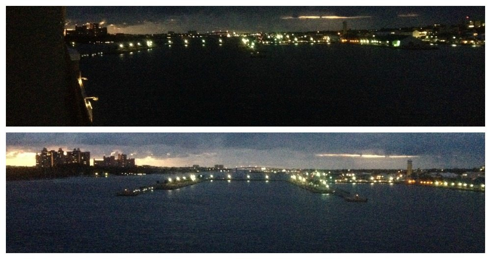 Arriving in Nassau early morning