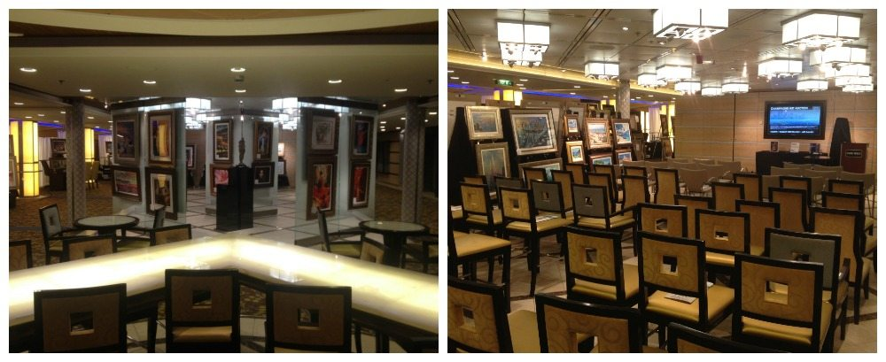 Art Gallery & Auction area on Celebrity Eclipse